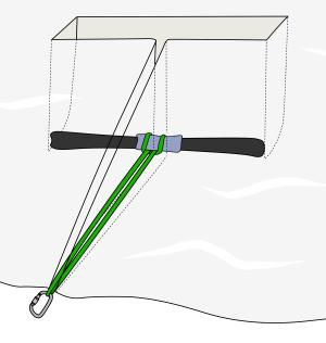 crevasse rescue anchors using ski