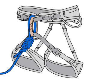 figure-8 knot climbing harness