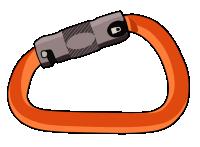 Autolocking screwgate climbing carabiner