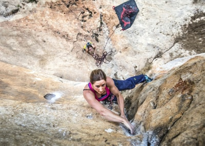 Sport climbing outside