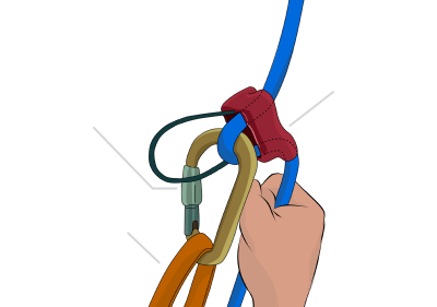 What is a rock climbing belay device?