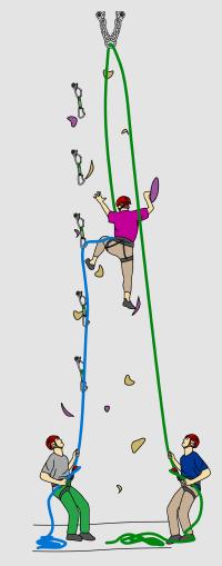 How to lead climb belay