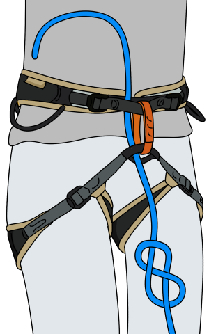 How not to tie a figure of 8 knot to a rope for rock climbing