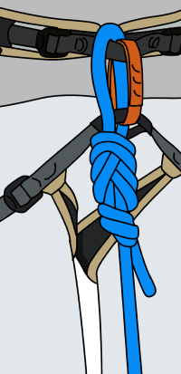 How to tie in to a rope for rock climbing with a figure 8
