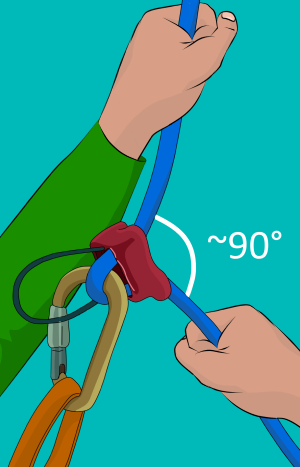 How to belay for climbing