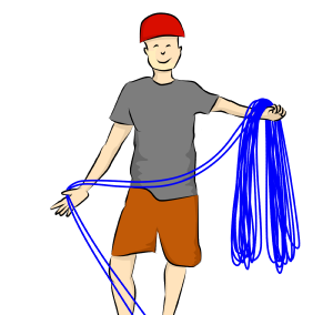 How to coil a rope for rock climbing
