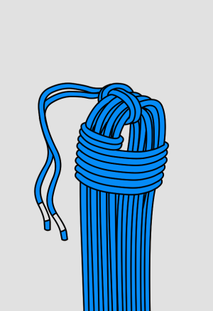 Coiling a climbing rope