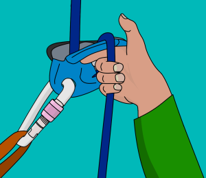 How to feed slack rope with a grigri