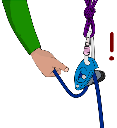 belaying directly from anchor with a grigri