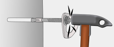 placing rock climbing bolts