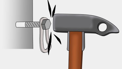 how to place rivets aid climbing