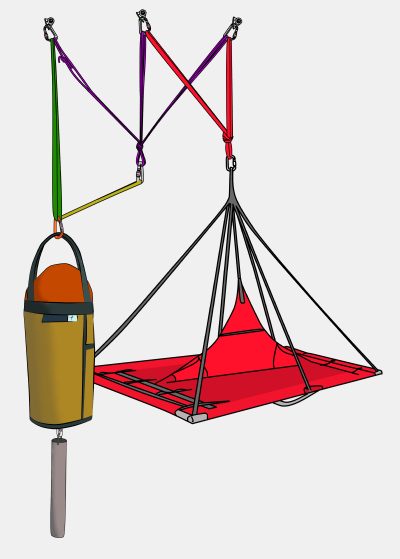portaledge and haulbag