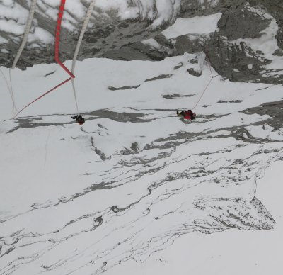 eiger north face climbing