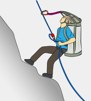 how to rappel with a bag