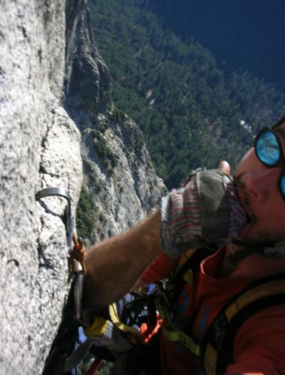 El Cap aid climbing hook