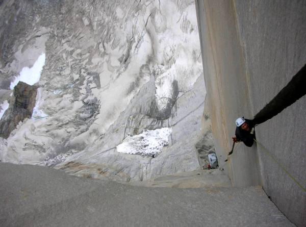 patagonia big wall aid climbing