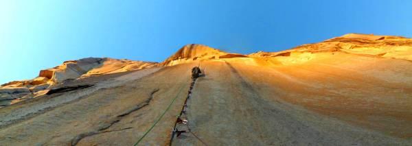 Sunkist El Capitan aid climbing
