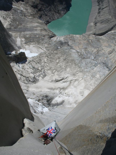 Aid climbing patagonia