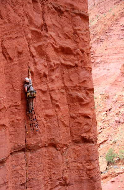 aid climbing fisher towers