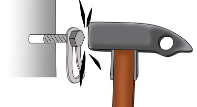 how to place climbing bolts