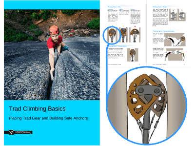 VDiff learn to trad climb book beginners guide to rock climbing
