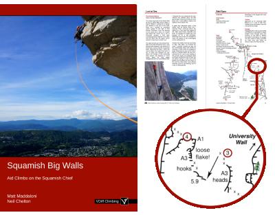 Squamish big walls aid climbing book