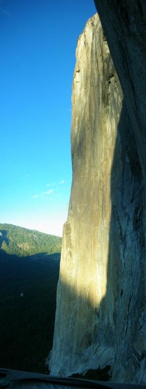 Rock climbing el cap big wall aid climbing