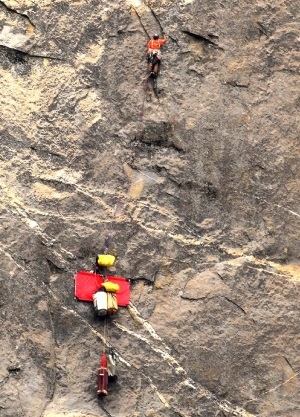 Rock climbing el cap big wall aid climbing gulf stream solo