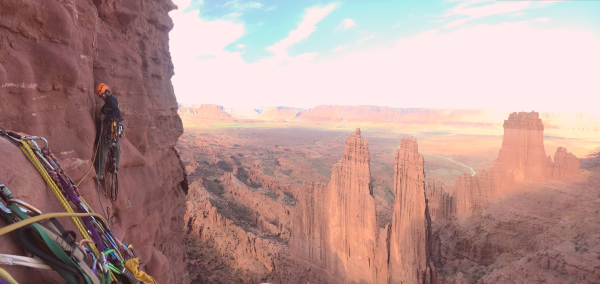 Aid Climbing in the Fisher Towers