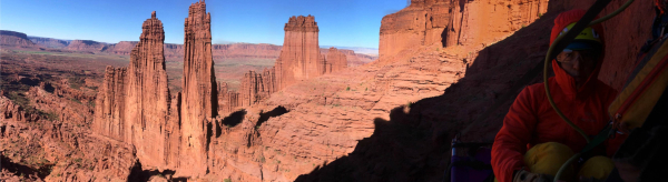 Climbing in the Fisher Towers