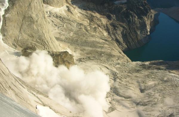 Patagonia rockfall