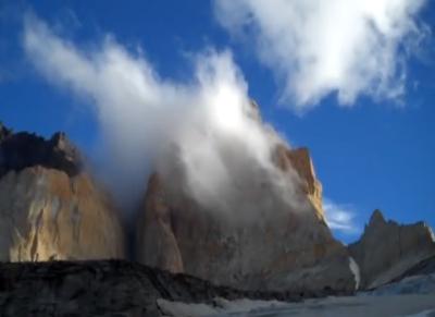 Big wall aid climbing Patagonia
