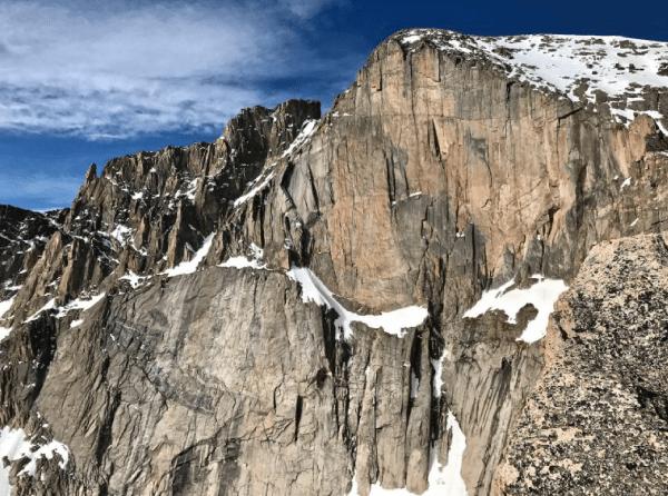 Diamond longs peak climbing