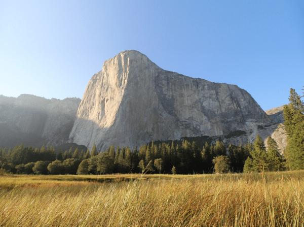 El Cap rock climbing