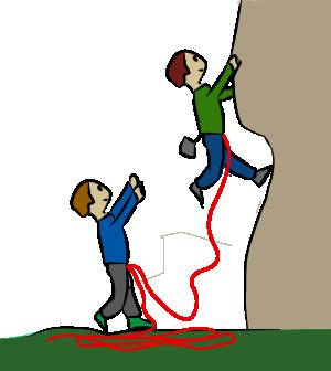 Spotting rock climbing