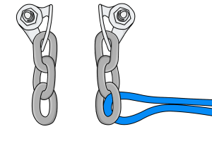 sport climbing anchor chains and bolts