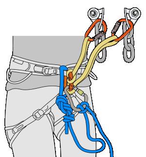 rappel from a sport climb anchor