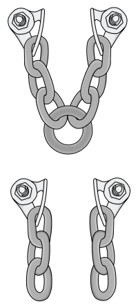 Sport anchors lowering chains