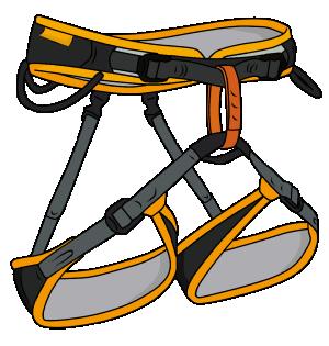 Sport climbing harness
