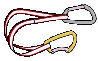 Sport climbing extendable quickdraws