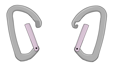 hooked nose carabiners