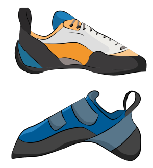 Sport climbing shoes
