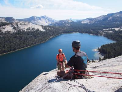 Rock climbing in california