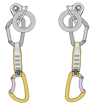 Sport climbing anchor lowering chains