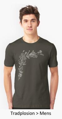 VDiff mens tradplosion t-shirt