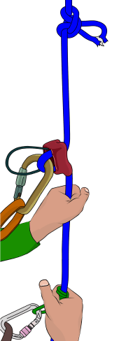 how to abseil past a knot when climbing