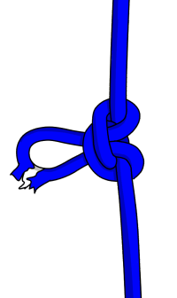 how to abseil past a knot