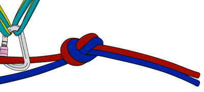 How to tie climbing ropes together for rappelling