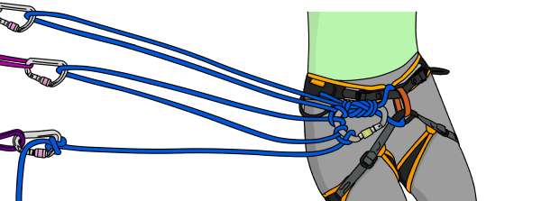 using rope in advanced trad anchors