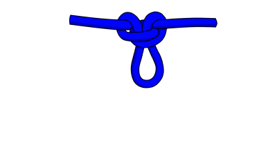 Alpine butterfly knot for climbing